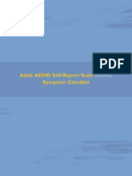Adult ADHD Self-Report Scale (ASRS) Symptom Checklist Adult ADHD