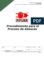 Procedimiento Para El Proceso de Almacen Rev.01 2013