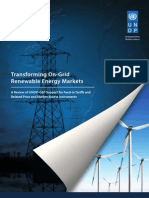 Transforming On-Grid Renewable Energy Markets