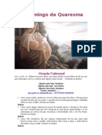 Eucaristia do 1ª domingo da Quaresma