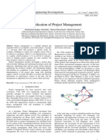 The Application of Project Management