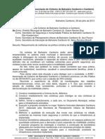 Of. 52-13 - Solicita politica cicloviária PMBC - Protocolado [ACBC]