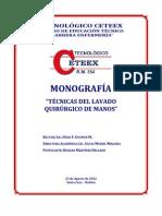 monografía TÉCNICAS DEL LAVADO  quirúrgico de manos