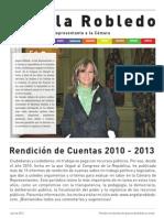Rendición de Cuentas de Angela Robledo 2010 - 2013