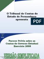 Parecer Prévio do TCE 2008