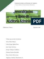 Generalidades y tipos de Auditoría