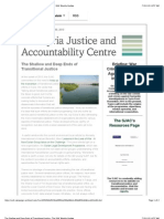 The Shallow and Deep Ends of Transitional Justice- The SJAC Weekly Update
