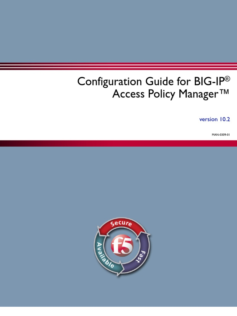 Configuration Guide for BIG-IP Access Policy Manager | Radius