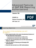 Advanced Features of SAP BW Reporting Authorizations