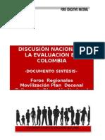 Documento final Discusión evaluación