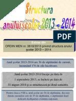 Structura an Scolar Si Calendar 2013 2014