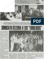 """Sindicato celebra a los Todologos """"Bibliotecarios"""""""