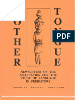 Mother Tongue Newsletter 27 (Fall 1996)
