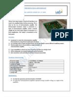 Measurement & Instrumentation Lab Specification