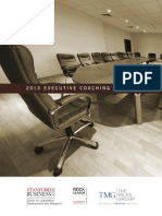 2013 Executive Coaching Survey from Stanford University and The Miles Group