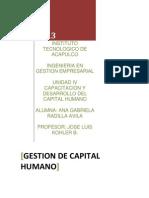 Gestión del Capital Humano Unidad IV