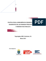 ICEFIDiagnósticoPoliticaFiscalHondurasMarzo2013