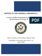 Reining in the Imperial Presidency... George W. Bush