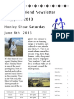 Friend To Friend Newsletter May 2013