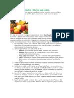 Frutos y Frutas Que Curan (Zumoterapia)