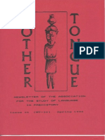 Mother Tongue Newsletters 26 (Spring 1996)