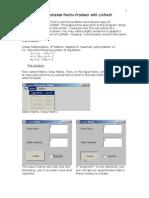 Lin Math Manual