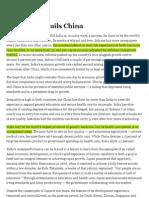 Why India Trails China - NYT