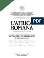 Programme L'Africa Romana XX