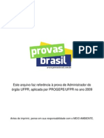 Prova Objetiva Administrador Ufpr 2009 Progepe Ufpr
