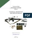 Firearms - Combat Survival Weapons Improvised 7.62-Mm SVD Dragunov Sniper Rifle -Technical Description &~0