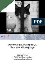 Developing a PostgreSQL Procedural Language