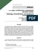Etiología, cronificación y tratamiento del dolor lumbar