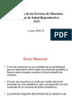 7.RHS_Estimando Los Errores de Muestreo de Las Encuestas