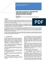 Application of Distributed Architectures of Interlocking in Metropolitano