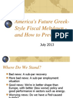 America's Future Greek-Style Fiscal Meltdown - and How to Prevent It