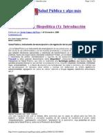 2009 Javier Segura del Pozo - Salud pública y Biopolítica Curso