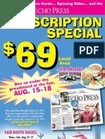 Echo Press Fair Subscription Special 2013