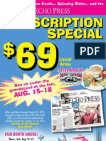 Echo Press Fair Subscription Special 2013