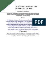 UNA ORACIÓN MILAGROSA DEL SANTO CURA DE ARS
