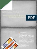 Expo Temperatura NMX AA 007 2000