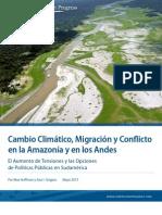 Cambio climático, migración y conflicto en la Amazonía y  en los Andes
