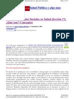 2007 Javier Segura Del Pozo - Determinantes Sociales de La Salud DSS Curso