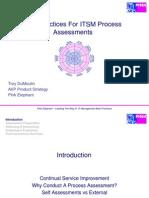 Best Practices for ITSM Process Assessment v1