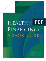 Health Financing - A Basic Guide - WPRO