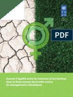 Assurer l'égalité entre les hommes et les femmes dans le financement de la lutte contre les changements climatiques