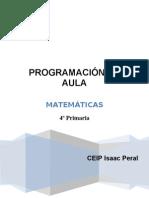 programacion aula matematicas 4º