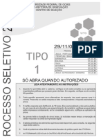 2010-1 Caderno Tipo 1