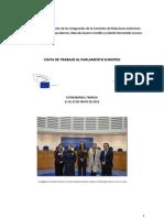 31-07-13 Informe Visita Estrasburgo