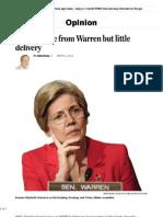 The Big Noise of Senator Elizabeth Warren