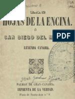 Alonso, Graciliano - Las Hojas de La Encina o San Diego Del Monte Leyenda Canaria